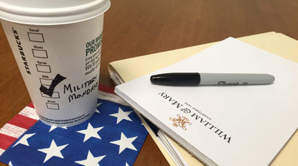 W&M's Puller Clinic partners with Starbucks for veterans outreach