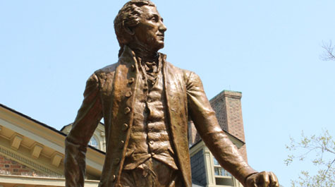 President Monroe statue dedicated on William & Mary campus
